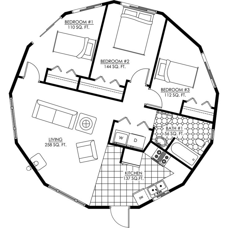 Octagon tiny house plans with loft free joy studio for Round house plans free