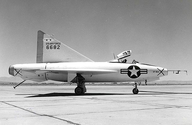 The XF-92A at Edwards Air Force Base, 1952