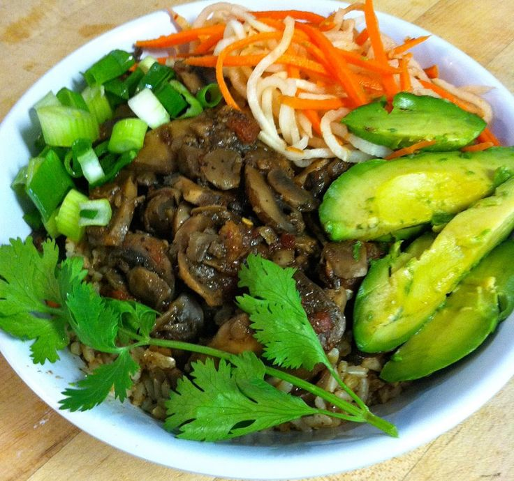 Charlie Hong Kong Create a new favorite: Mushroom Medley Rice Bowl, with brown rice, marinated carrot/daikon and avocado. It just might become crave-able.  wedigfood.com will donate $1 every time you write a restaurant review to Root Capital, a nonprofit agricultural lender that grows rural prosperity in poor, environmentally vulnerable places.  #vegan, #vegetarian #sustainable #seafood