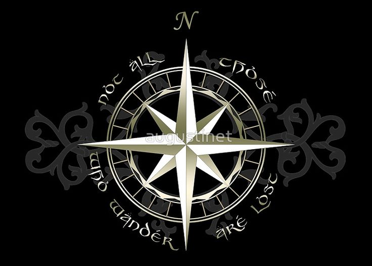 Compass Ring Not All Who Wonder Are Lost