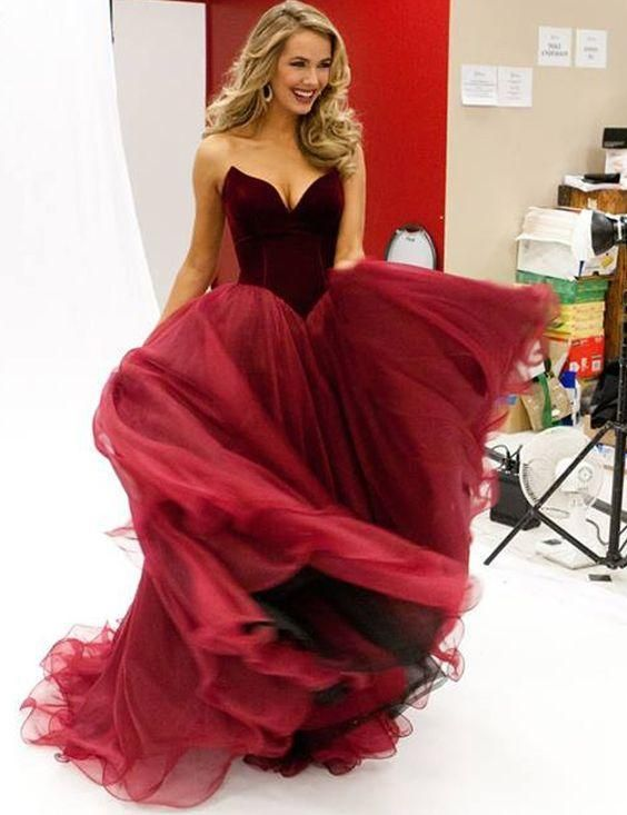 Retro Burgundy Evening Dresses Long Cheap Wine Red Prom Gowns Sweetheart Ball Gowns Sweet 16 Dance Girl Pageant Party Formal Occasion Wear Online with $120.42/Piece on Nameilishawedding's Store | DHgate.com