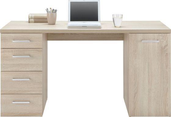 Trendiger Schreibtisch in Eiche Sonoma NB - schick und stilvoll