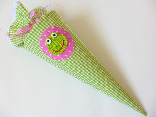 MINI Zuckertüte/Schultüte für GESCHWISTER (Mädchen)!  *AUCH FÜR DEN KINDERGARTENANFANG!*  Der MINI-Schultütenbezug (ca. 45 cm inkl. Rand) ist aus Stoff genäht und über einen Papprohling (35 cm)...