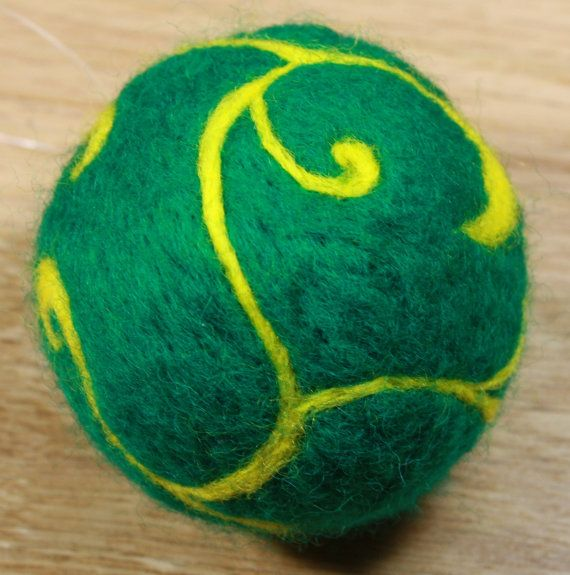 Needle Felted Christmas Ornament Ball by HandFactory on Etsy, $12.50