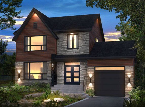 L'Archipel Details: 3 bedroom (1792 sq. ft.) L'Archipel : this striking two-storey home boasts a contemporary, versatile design that fits equally well in an urban or rural setting. Note that the garage can be removed without sacrificing the overall aesthetic appeal.