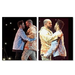 Drake - Kiss The Weeknd?  Did Drake kiss The Weeknd? They didn't kiss but they looked like they were about to lock lips. The two entertainers got very close during The Weeknd's performance in London. Drake wouldn't be the first male Cash Money Records artist to kiss a man. Birdman and Lil Wayne's kisses went viral a few years back.  Unlike Birdman and Lil Wayne Drake and The Weeknd haven't tried to justify kissing each other. Birdman and Lil Wayne claimed they would kiss because they were…
