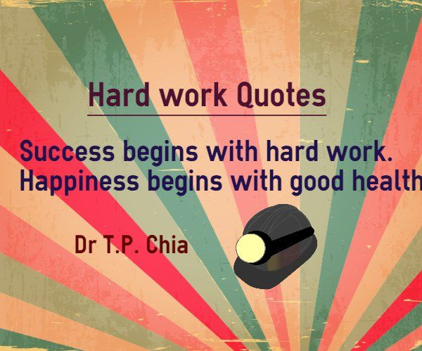 happiness and hard work With hard work you can achieve anything life, liberty, and the pursuit of happiness not pursuit of hard work by which i will probably be unhappy and at worst die alone or with a string of ex-spouses and children who hate me.