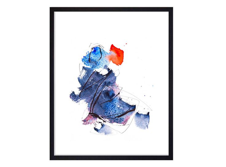 Created by Josee Prudhomme www.joseeprudhomme.com & available in my Etsy Shop #TangoArtPrints: https://www.etsy.com/ca-fr/listing/540175569/bleu-impression-dart-peinture-aquarelle