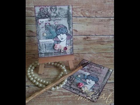 Artist Trading Card Set *Age Of Innocence...*, Mixed Media (MakaArt) #11 - YouTube
