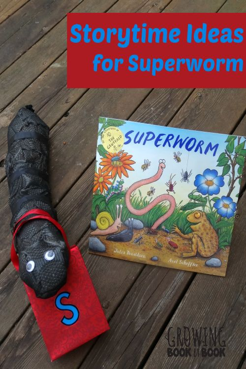 Storytime ideas to use with the book Superworm or any book about worms. Literacy activities, song and rhymes, cooking and science activities included.