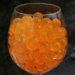 Orange marmor vandperler, 10G, 15,-