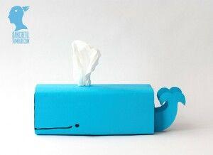 Walvis gemaakt van een tissuebox