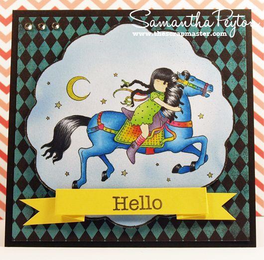 Scrapmaster's Paradise: Rainbow Horse Card