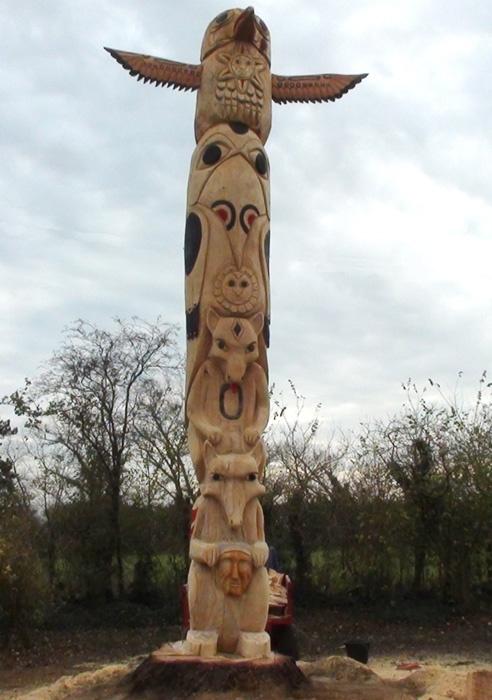 Fantasy Animal Totem Pole