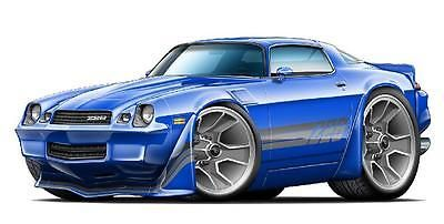 1980-1981 Chevy Camaro Z28 Wall Art Decal Sticker Graphic Poster Man Cave Decor