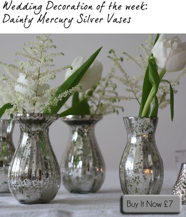 Silver Vases Amazing Best 25 Silver Vases Ideas On Pinterest  White Silver Wedding 2017