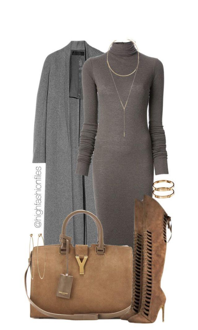 """Thanksgiving Look"" by highfashionfiles ❤ liked on Polyvore featuring moda, Haider Ackermann, Rick Owens Lilies, Yves Saint Laurent, BCBGeneration, Oscar de la Renta, Dean Harris e ASOS"