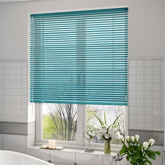 Premium Tropical Blue Venetian Blind - 25mm Slat