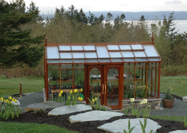 Photos Of Our Nantucket Style Greenhouse Kit. The Nantucket Has An  Asymetrical Shape With Double Doors In The Side Wall.