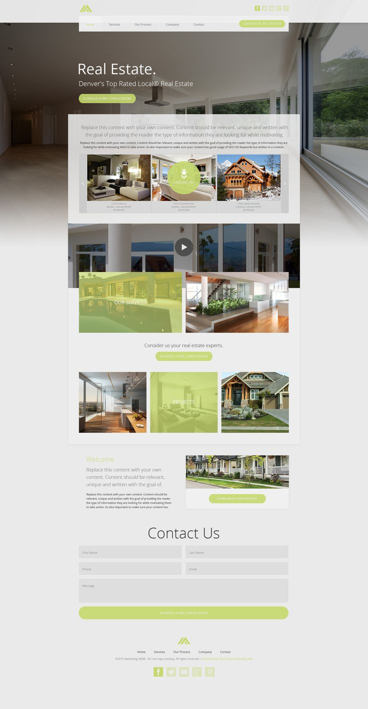 Real Estate Template%0A UXi   Real Estate website templates deliver superior marketing and  leadgeneration results  Check