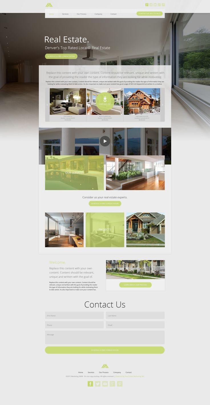 Die besten 25+ Real estate website templates Ideen auf Pinterest ...