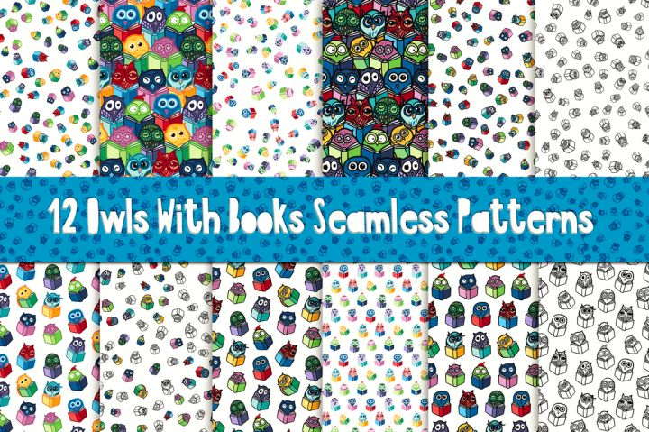 Fun Owls With Books Patterns By Barsrsind Shop