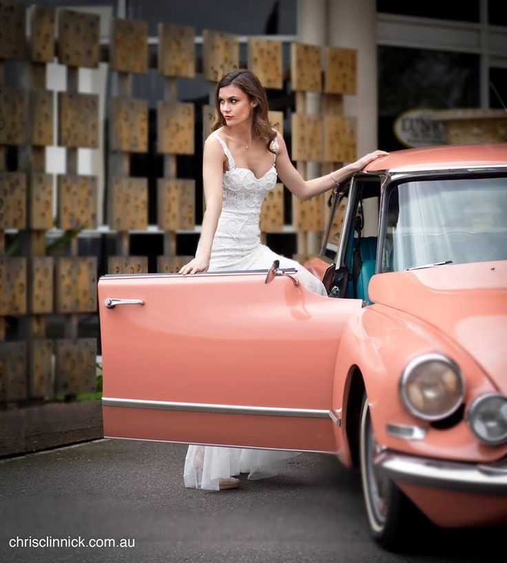 """Our 1967 Citroen DS21 """"Goddess"""" Something a little bit retro for the couple that dare to be different on their wedding day. Perfect for those couples with a Rustic wedding theme. #retro #weddingcars #classiccars #weddinginspo #rusticwedding #weddinginspiration #bridalgown #model #classiccarhire #bridalgown #bridetobe"""