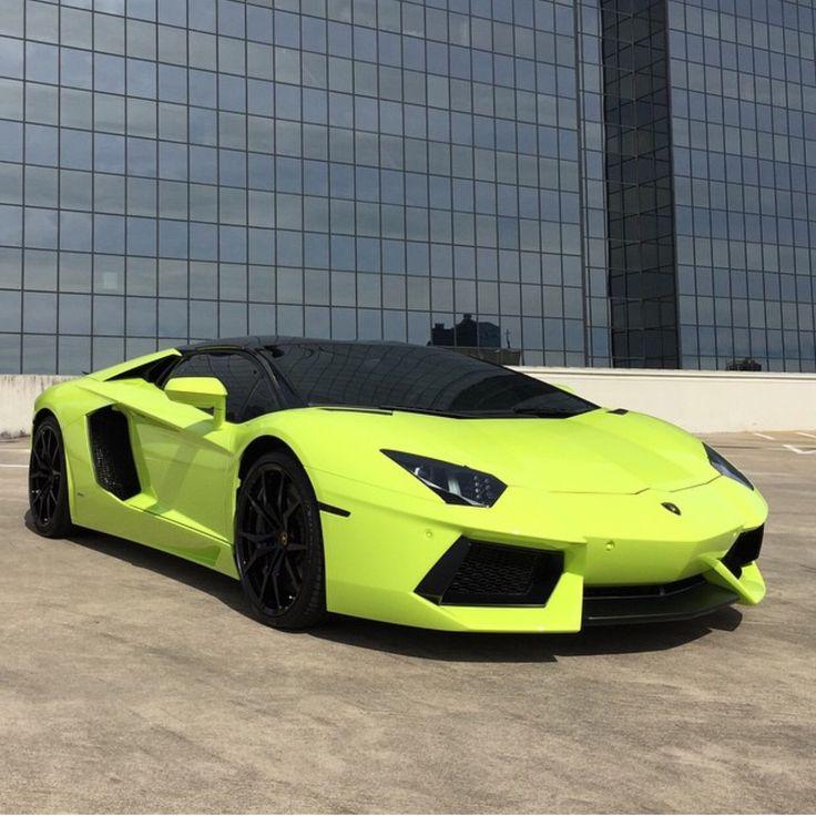 Lamborghini Aventador Roadster Painted In Verde Scandal