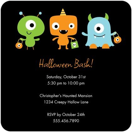 halloween monster parade party invitations for kids - Kids Halloween Party Invite