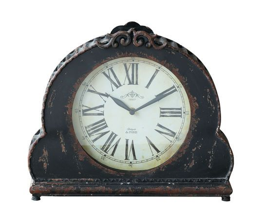 Collected Notions Black Mantel Clock