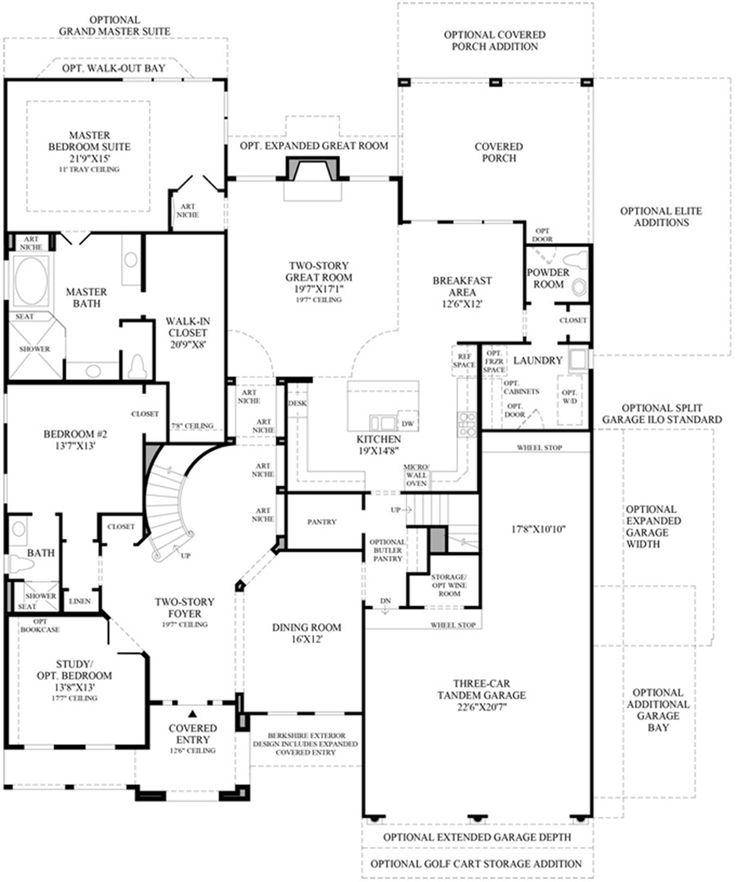 742 best New Home images on Pinterest | House floor plans, Dream ...