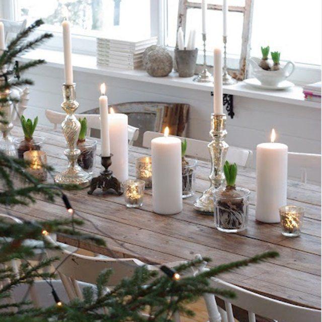 Une table de fête nature rythmée par les accessoires de décoration