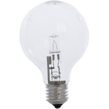 Bec halogen glob Starke BH30 42W, E27, G80 clar, 2000 ore, lumina calda