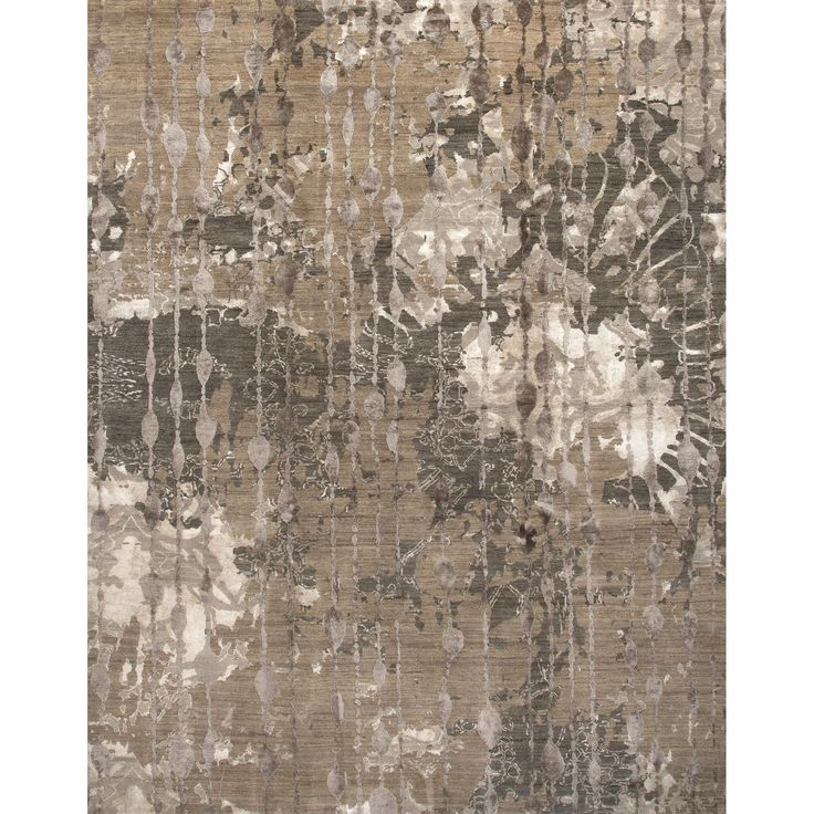 Connextion Collection Ruby Room Rug in Dark Taupe and Ashwood By Jenny Jones