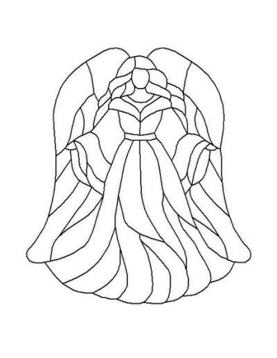 angel stained glass coloring pages #StainedGlassNativity