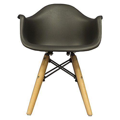 Amazon|【不朽の名作 イームズチェアDAR スチール脚アームシェルチェア(肘掛け一体型)】デザイナーズ CharlesRay Eames 曲線美座面 体を包み込むデザイン エッフェルベース オシャレな癒し椅子 (ブラック色)|ダイニングチェア オンライン通販
