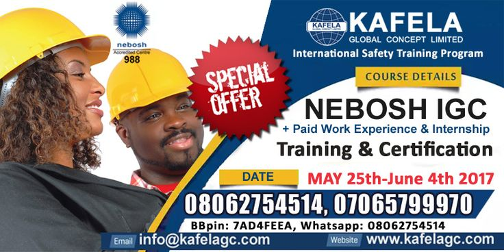 Before You Register for NEBOSH Certificate You Need to Know This Five Points   So here's what you need to know:   	What is NEBOSH?  Known by its acronym, NEBOSH stands for 'the National Examination Board in Occupational Safety and Health'. NEBOSH doesn't deliver health and safety training courses; instead, it provides syllabuses, exams and assignments to Accredited.... >>> See More >>>http://u.to/-1bZDw  ***************  Enquiry: 08062754514, 07065799970 ___