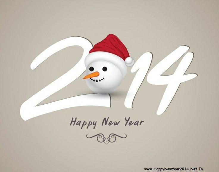 Happy New Year 2014 Cute Design