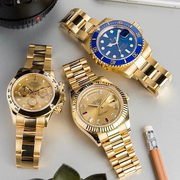 Relojes Dorados Rolex Rolexwatch Relojes De Oro Para Hombre Relojes Dorados Relojes Elegantes