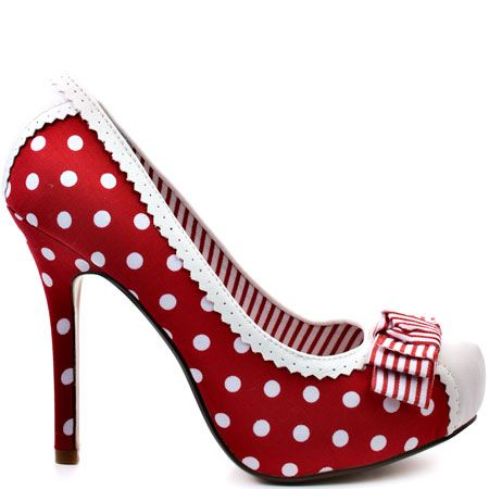 Dots Dots Dots Heels I LOVE ... Not Rated  Mimosa - Red