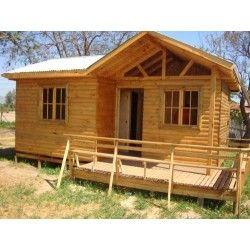 Casa prefabricada 24 metros cuadrados casitas de madera - Casitas de madera prefabricadas ...