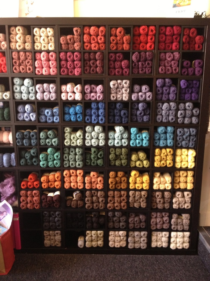 love this idea but i'd want hinged glass doors on every cube to keep wool clean and dust free