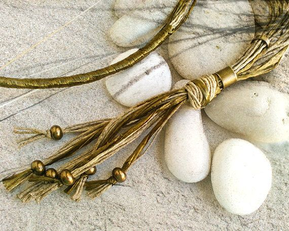 Long boho beaded necklace Long multi strand by myTotalHandMade