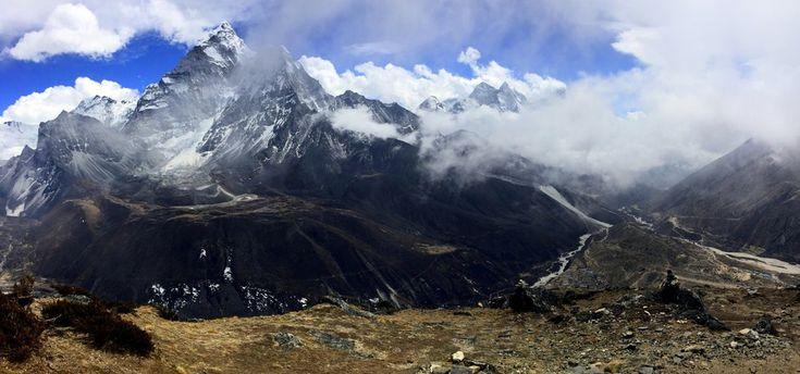 Фотография Панорама - Національний парк Sagarmatha, Непал из альбома Travel автора Андрей Дрогобыцкий. Фото загружено 31 мая 2017.