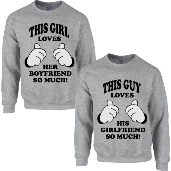 THIS GUY LOVES HIS GIRLFRIEND SO MUCH THIS GIRL LOVES HER BOYFRIEND SO... ($39) ❤ liked on Polyvore featuring tops, hoodies, sweatshirts, sweat shirts, sweat tops, low tops, sweatshirts hoodies and boyfriend tank top