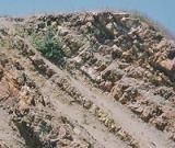 What to Know About Sedimentary Rocks: Tilted beds of chert and mudstone