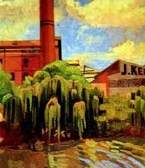 "Aletta Lewis "" factories on the Yarra "" 1928"