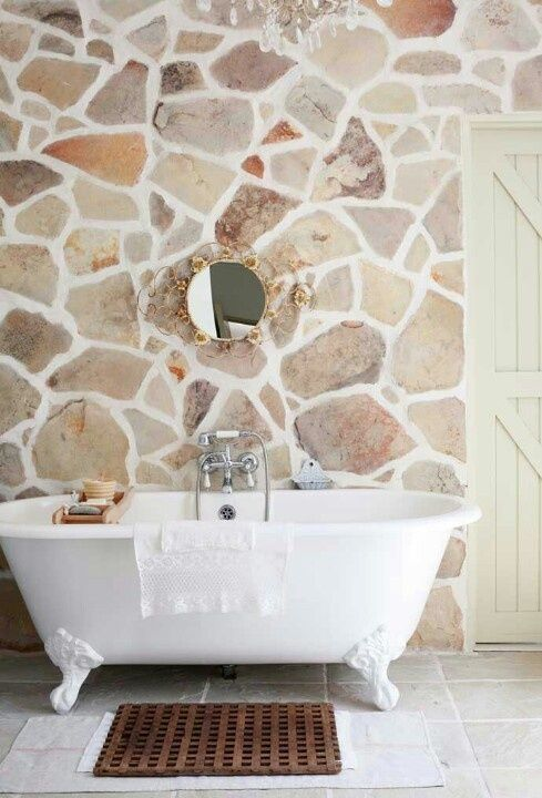 Best Stone Bathrooms Images On Pinterest Bathroom Ideas - 50 wonderful stone bathroom designs