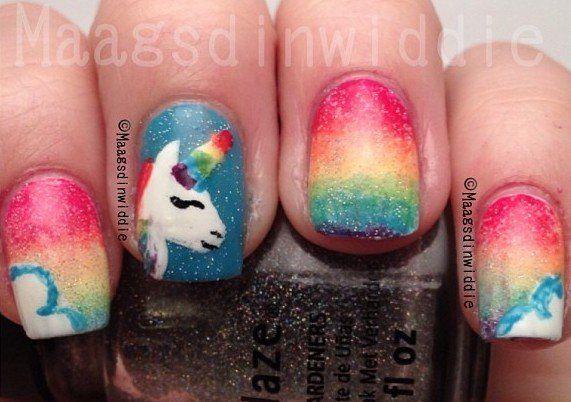 despicable me unicorn nails - photo #25