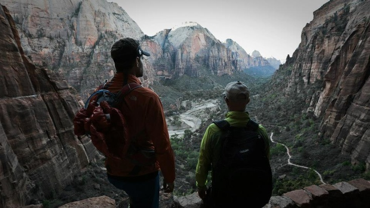 The hike to Angels Landing in Zion  #ThisIsNoVacation